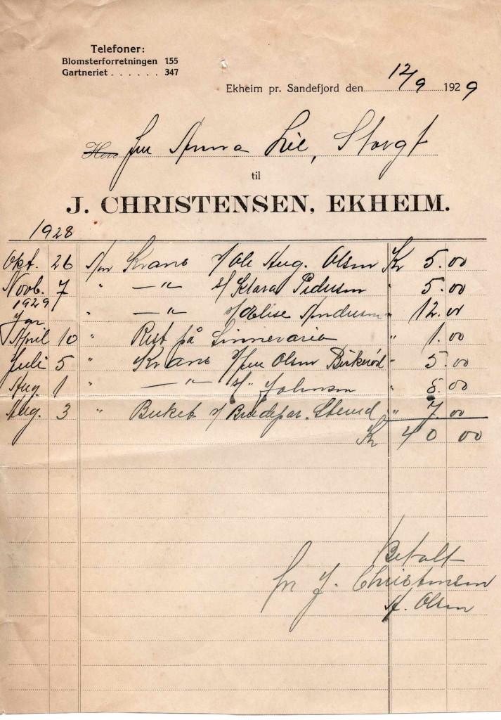 Bilde av Gartneri J. Christensen, Ekheim