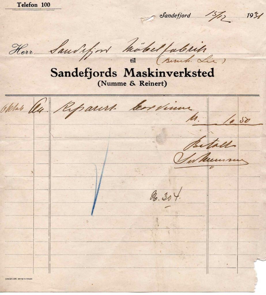 Bilde av Sandefjords Maskinverksted (Numme & Reinert)