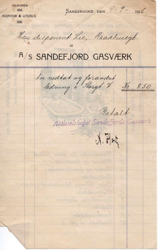 Bilde av A/S Sandefjord Gasværk