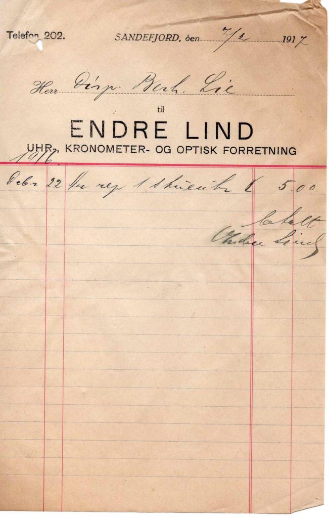 Bilde av Urmaker Endre Lind