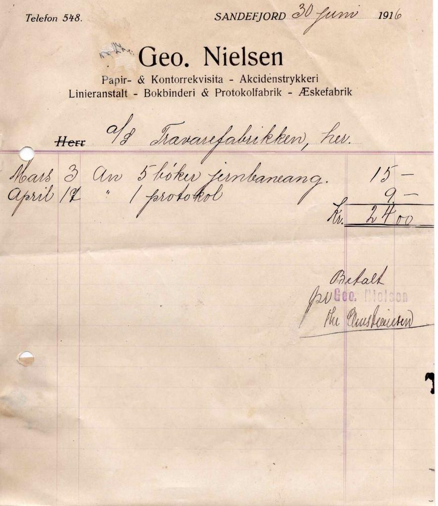 Bilde av Geo. Nilsen , Papir & Kontorrekvisita