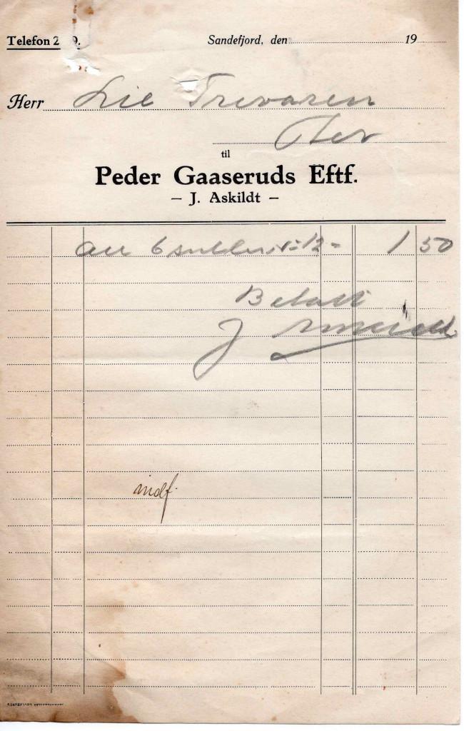 Bilde av Peder Gaaseruds Eftf. - J. Askildt