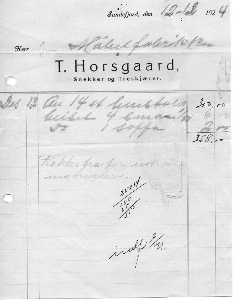 Bilde av T. Horsgaard, Snekker og Treskjærer