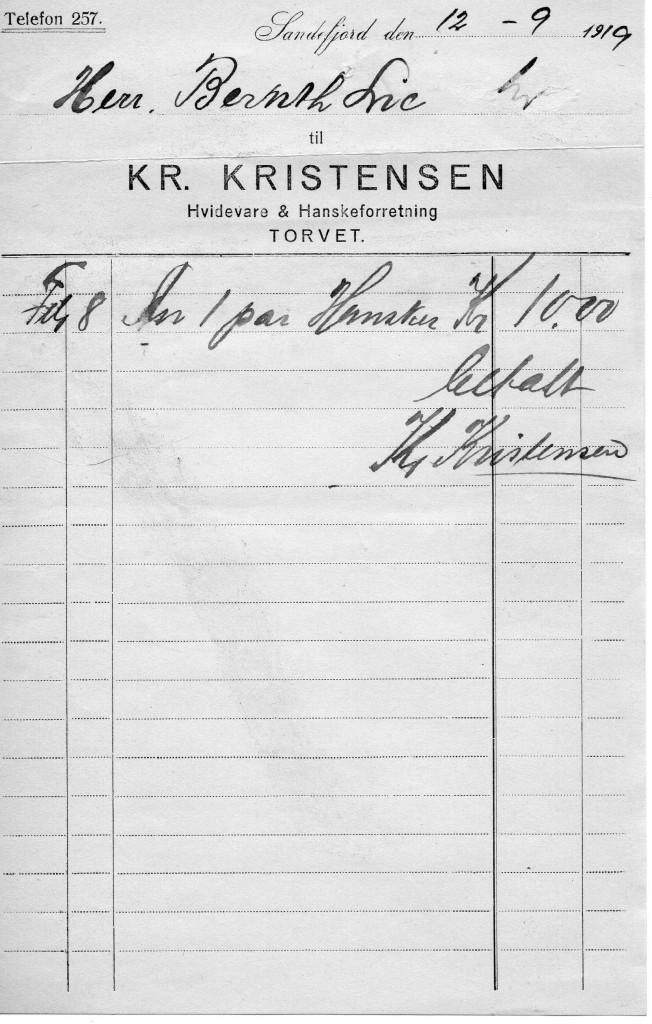 Bilde av Kvittering 1919