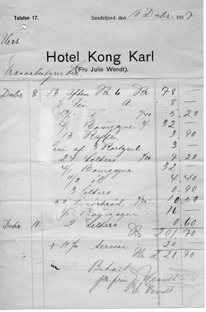 Bilde av Hotel Kong Karl , (fru Julie Wendt)
