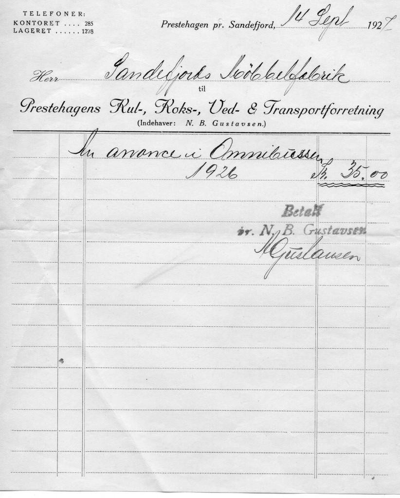 Bilde av Prestehagens Kul-, Koks-, Ved- og Transportforretning