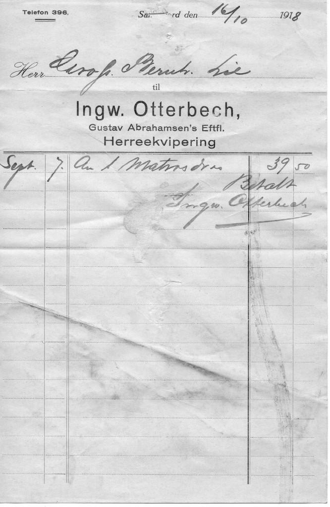 Bilde av Ingw. Otterbech, Gustav Abrahamsens Eftf., Herreekvipering