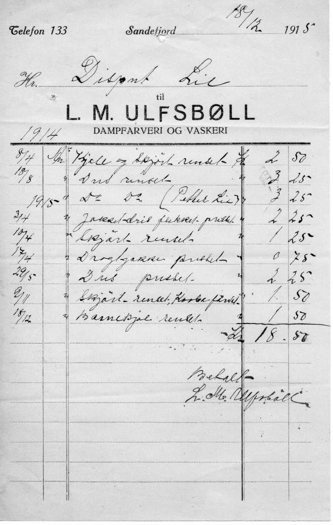 Bilde av L. M. Ulfsbøll, Dampfarveri og Vaskeri