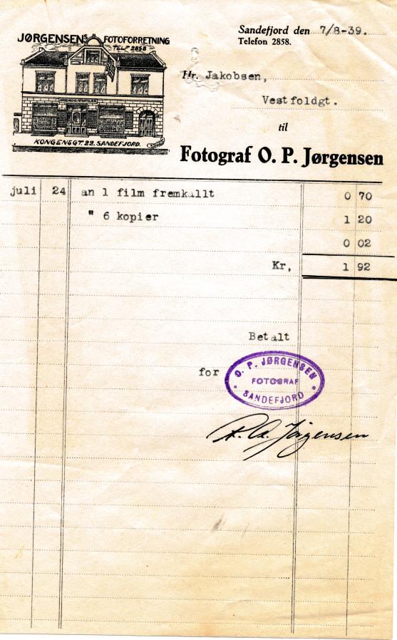 Bilde av Fotograf O. P. Jørgensen