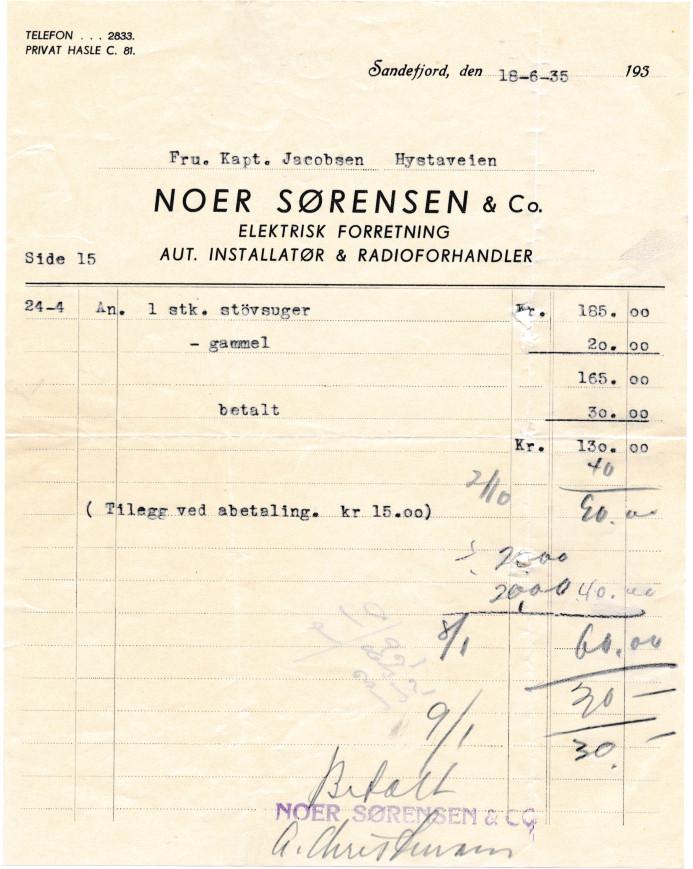Bilde av Noer Sørensen & Co, el. forretning