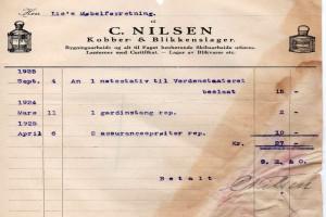 Bilde av Kobber & Blikkenslager C. Nilsen