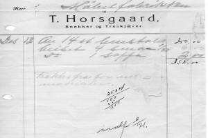 Bilde av Snekker & Treskjærer T. Horsgaard