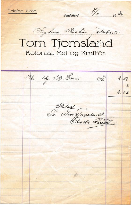 Bilde av Kolonial Tom Tjomsland