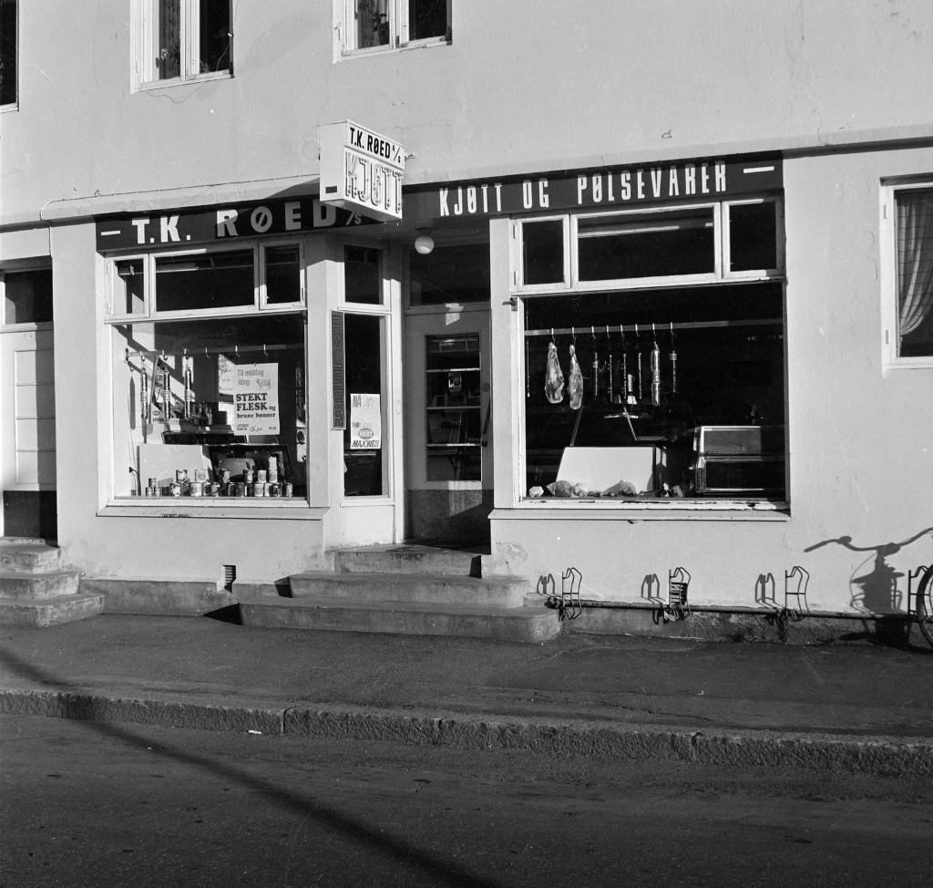 Bilde av T. K Røed slakterforretning Aagaards Plass 2