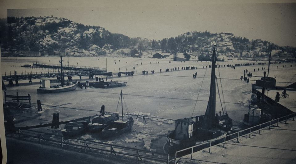 Bilde av På isen over til Framnes