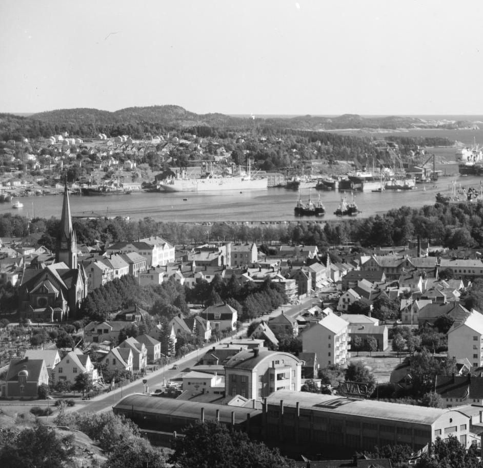 Bilde av Dronningens gate - fra nord mot syd
