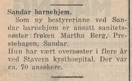 Bilde av 1933 - Ny bestyrerinne