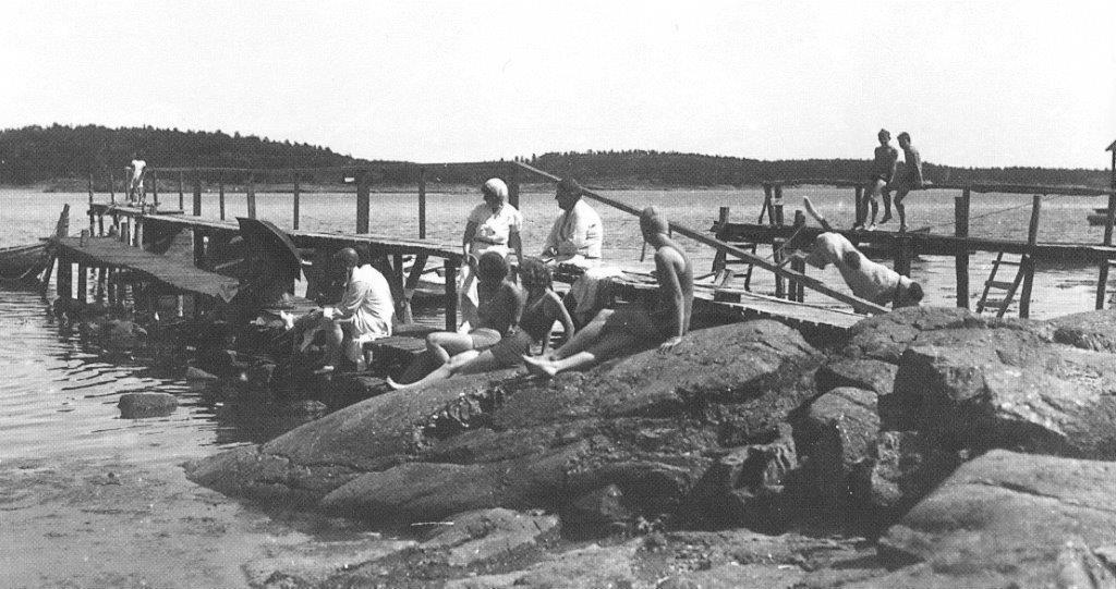 Bilde av Badeliv på 1920-tallet