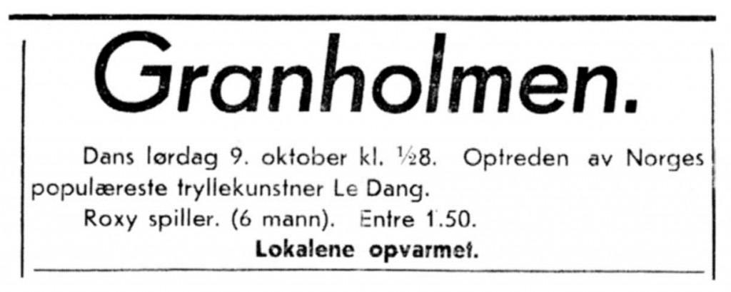 Bilde av Dans på Granholmen før krigen
