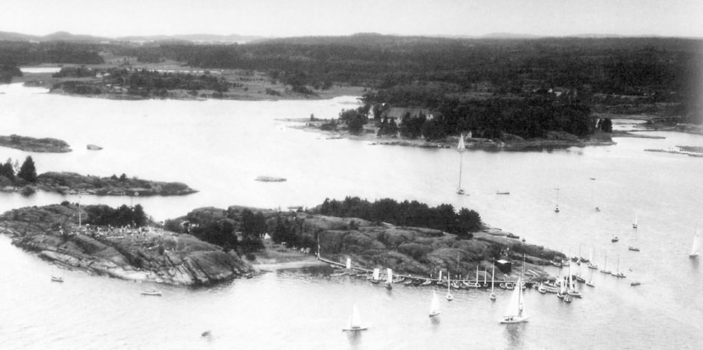 Bilde av Flyfoto av Granholmen 1949
