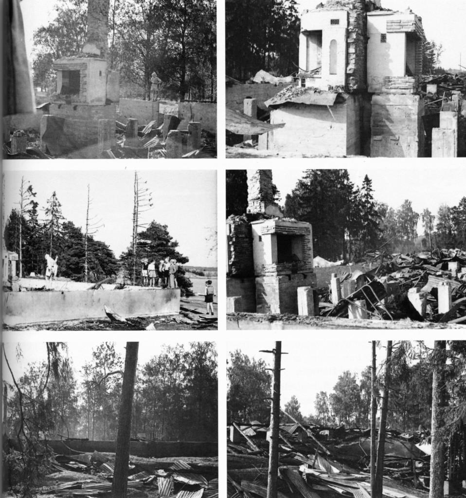 Bilde av Bilder fra branntomta Granhomen hotel