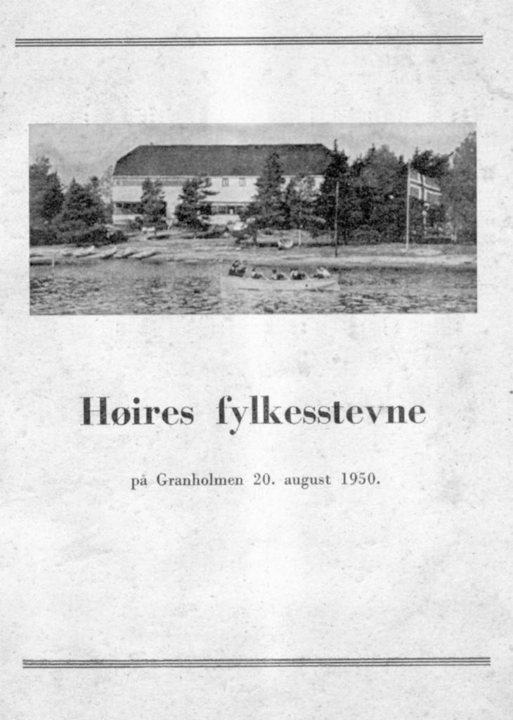 Bilde av Høires fylkesstevne