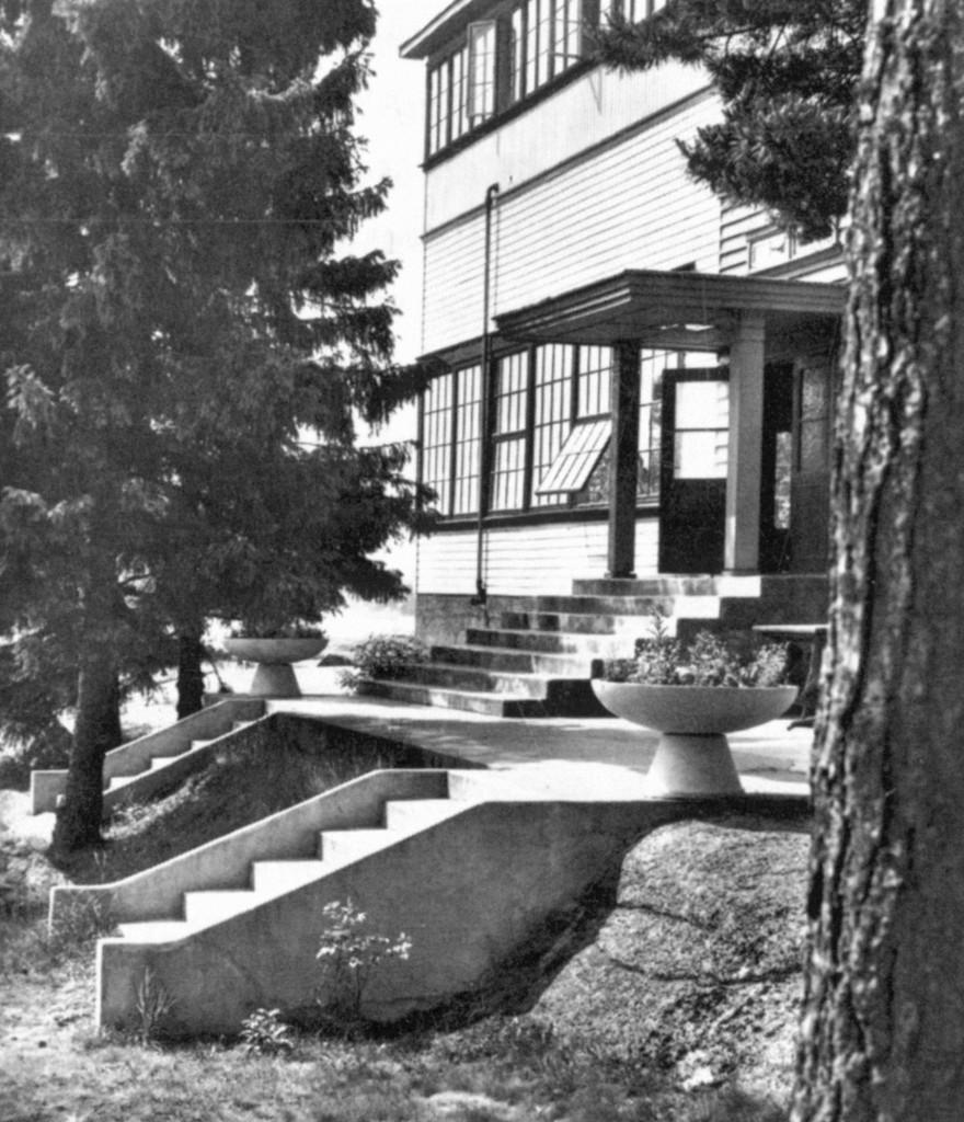 Bilde av Hovedinngangen hotel i 1931