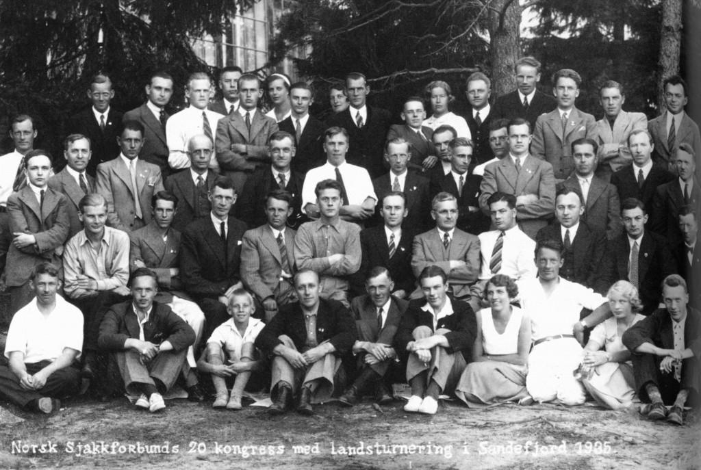 Bilde av Landsturneringen i sjakk 1935
