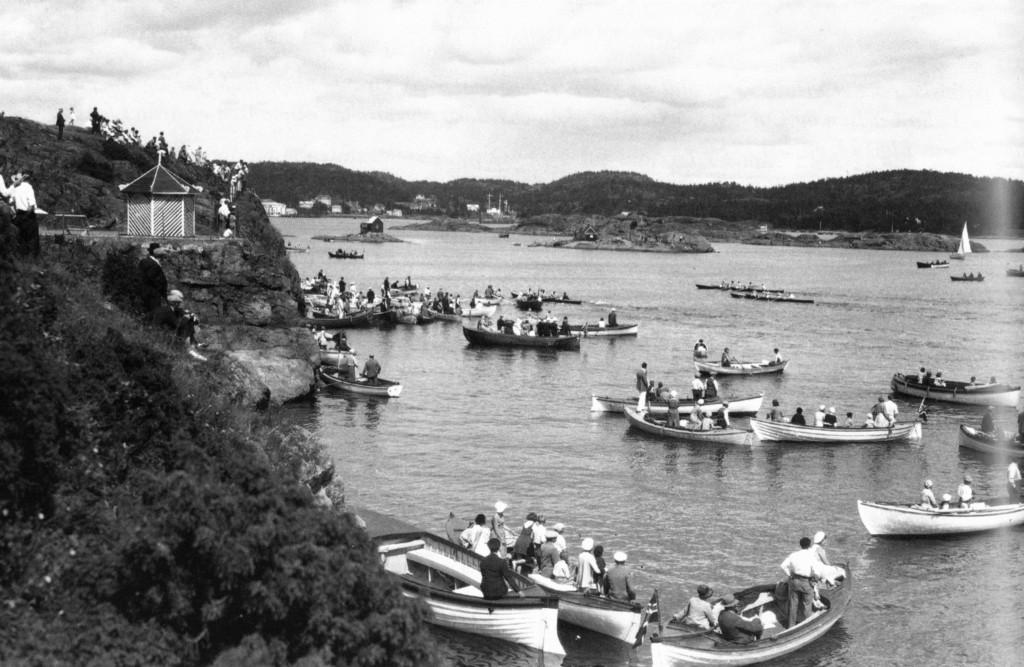 Bilde av Ro regatta i 1932