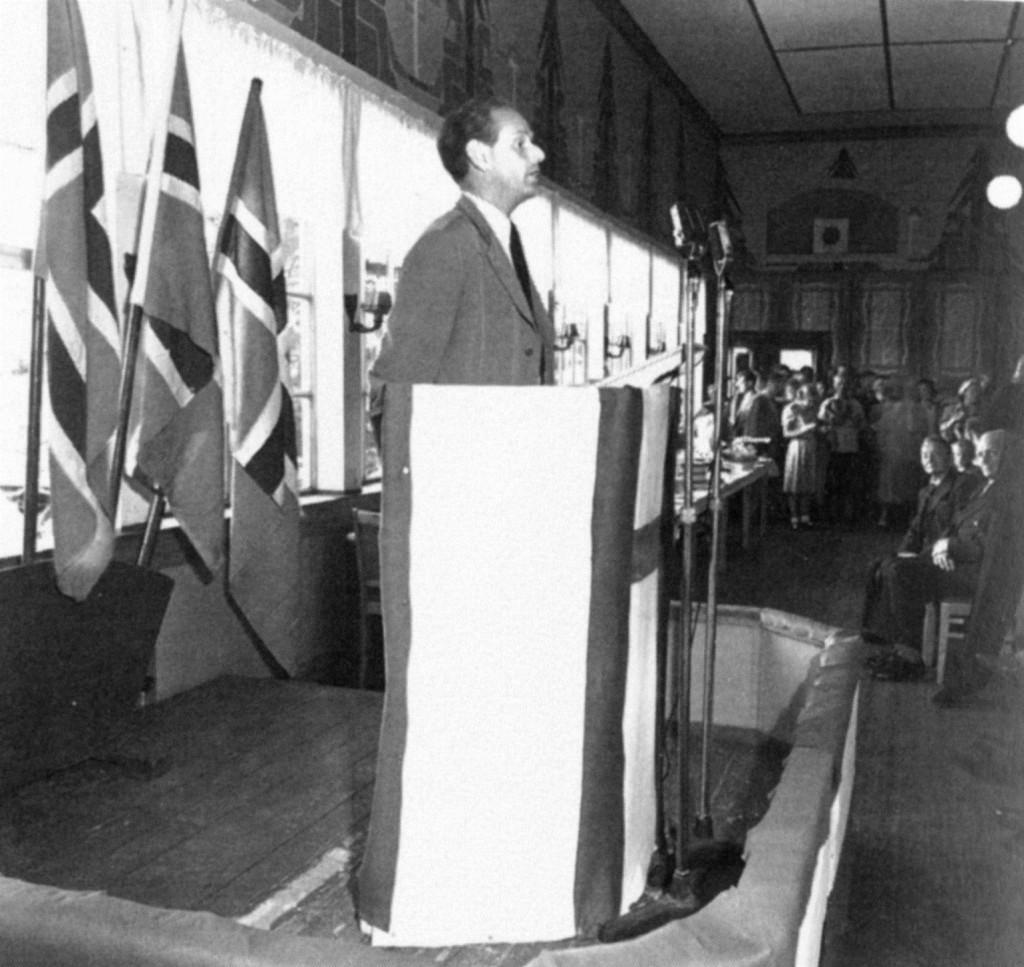 Bilde av Høires stevne i 1950
