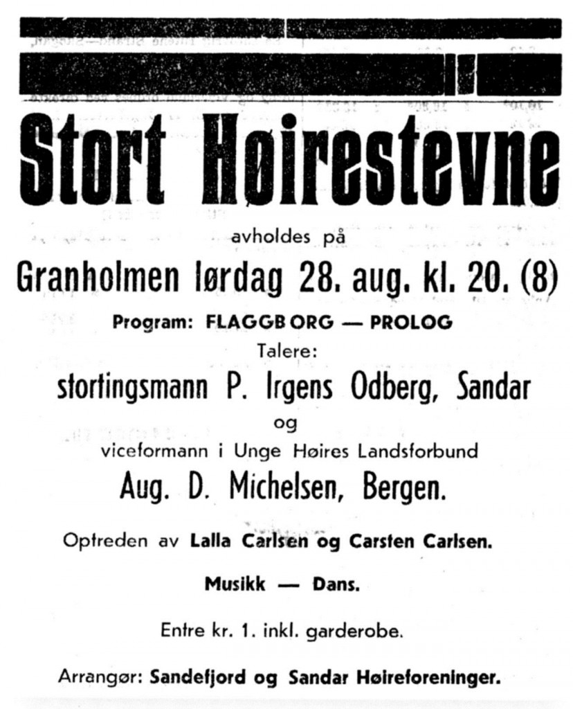 Bilde av Stort Høirestevne på Granholmen