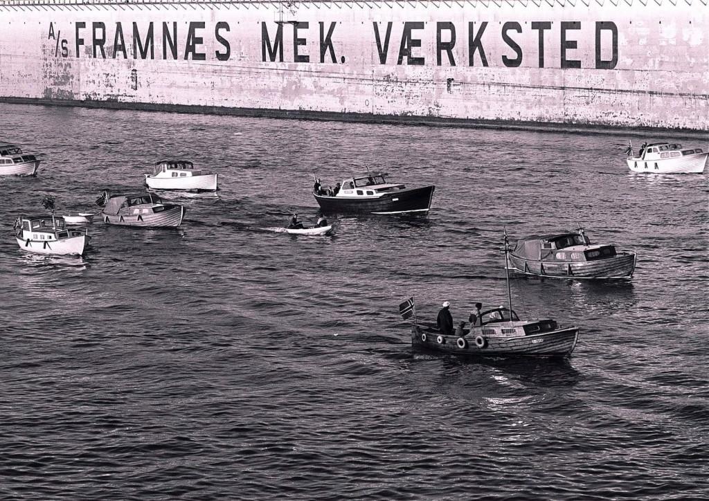 Bilde av Båtkortesjen