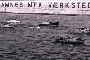 Bilde av Båtkortesjene i Sandefjord