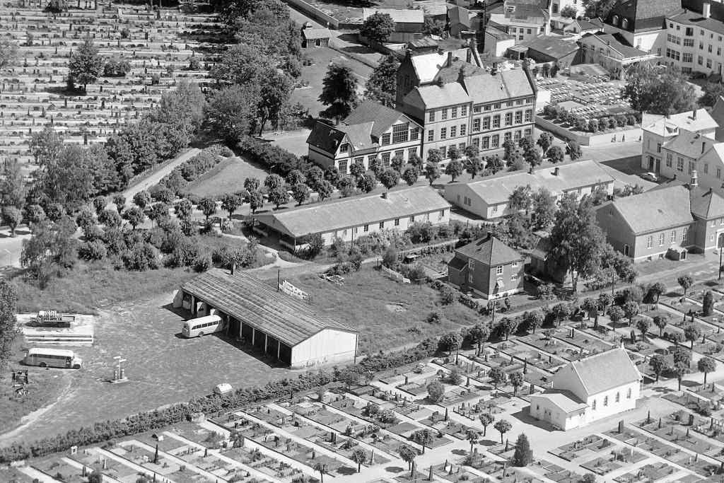 Bilde av Tyskerbrakker øverst i Jernbanealleen