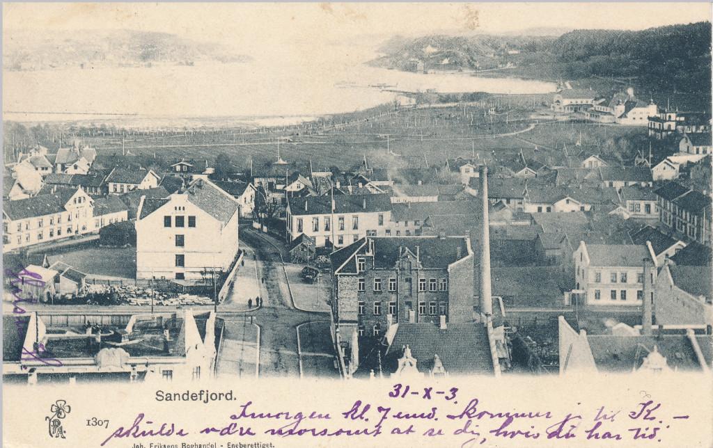 Bilde av Kirkegata mot syd