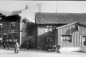 Bilde av Kjærlighetstorvet - før Byparken ble anlagt