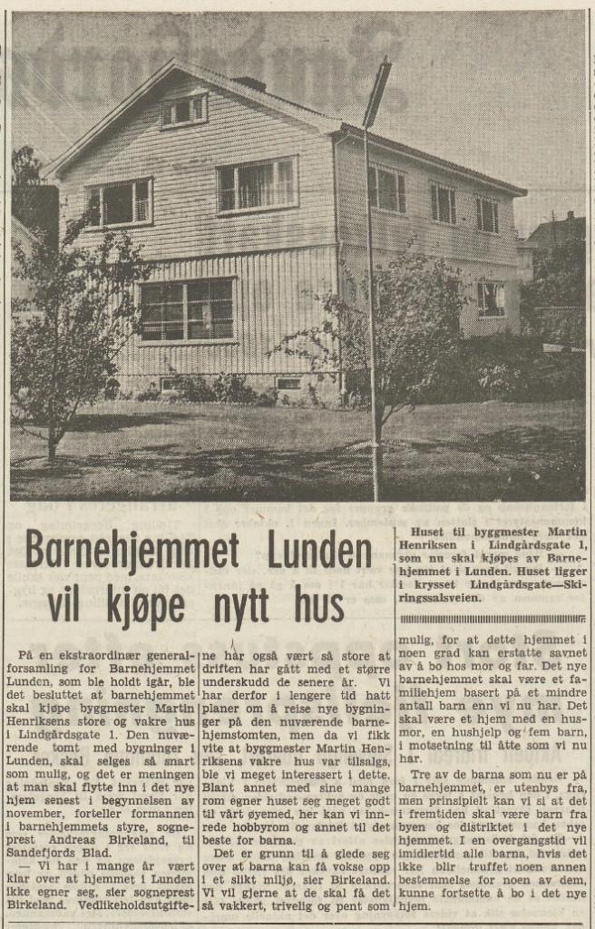 Bilde av Barnehjemmet Lunden / Lindgaards gate 1
