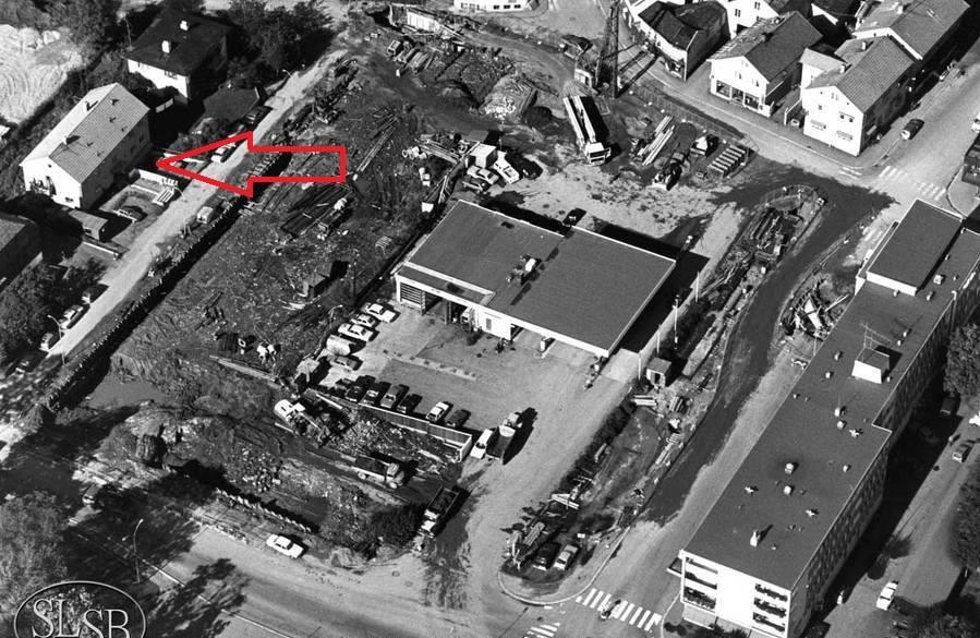 Bilde av Søebergkvartalet under bygging