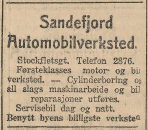 Bilde av Sandefjord Automobilverksted / Sverres gate 7