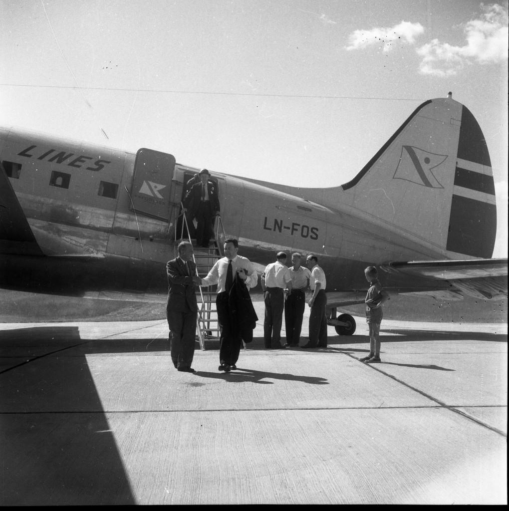 Bilde av Første charterfly på Torp