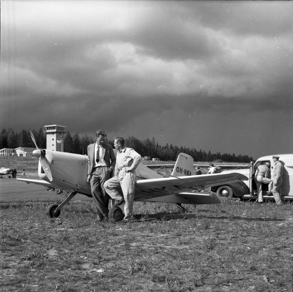 Bilde av Nordisk småflystevne på Torp 1960