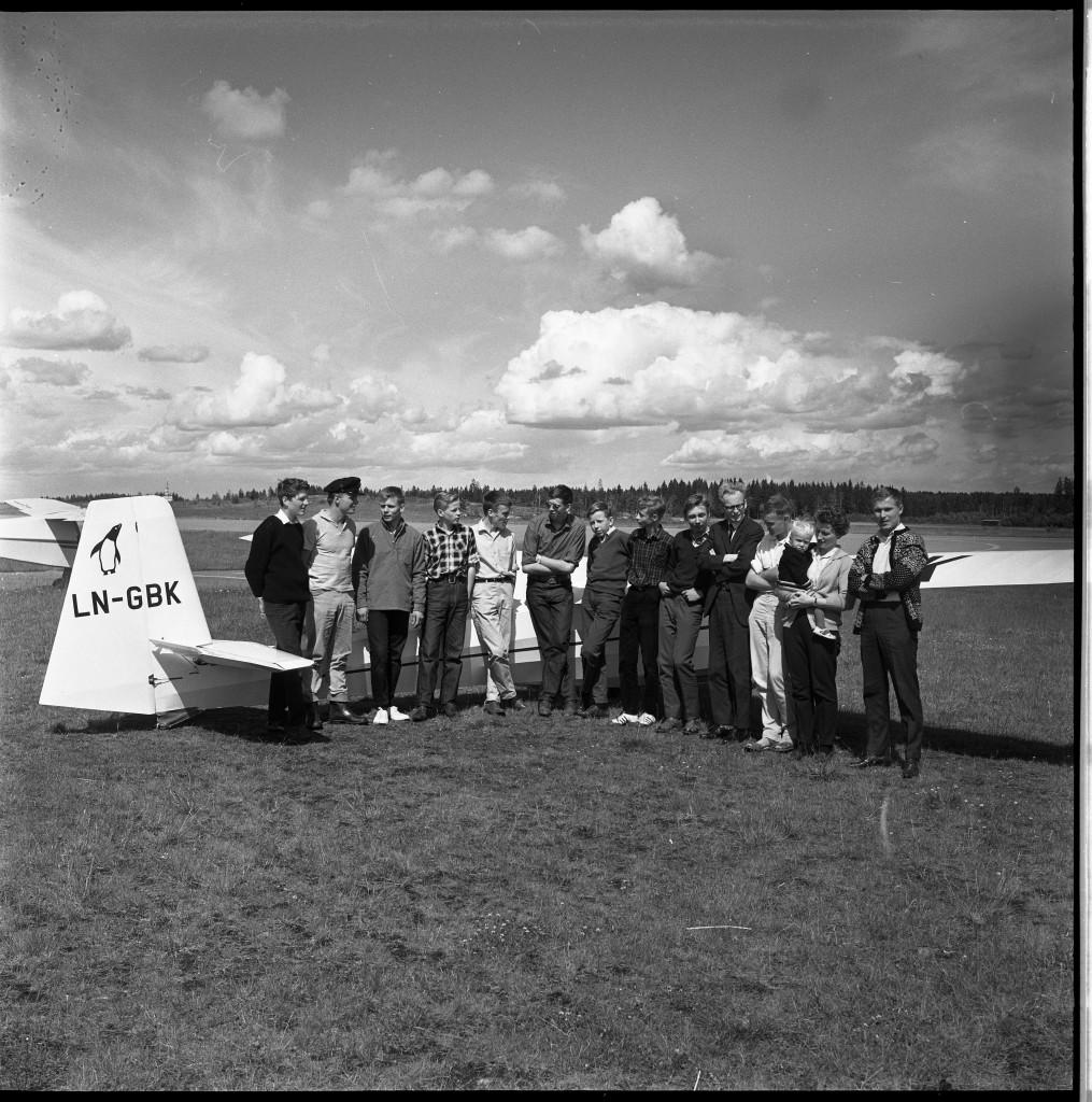 Bilde av Seilflykurs på Torp juni 1965