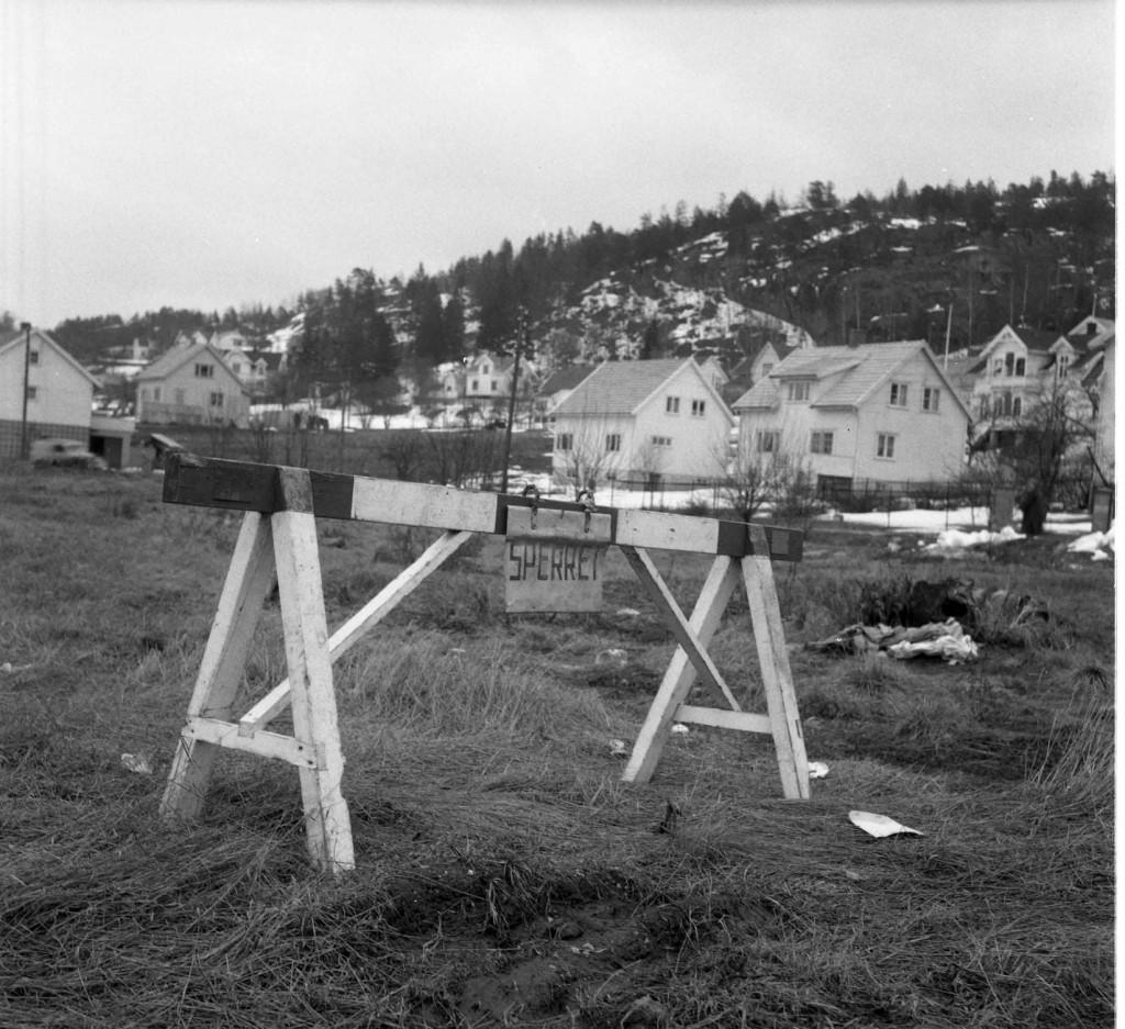 Bilde av Vesterøyveien etter fyllingen