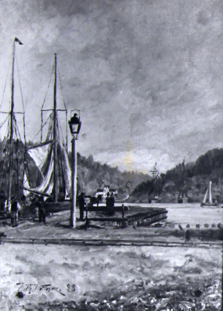 Bilde av Sandefjord Brygge 1888