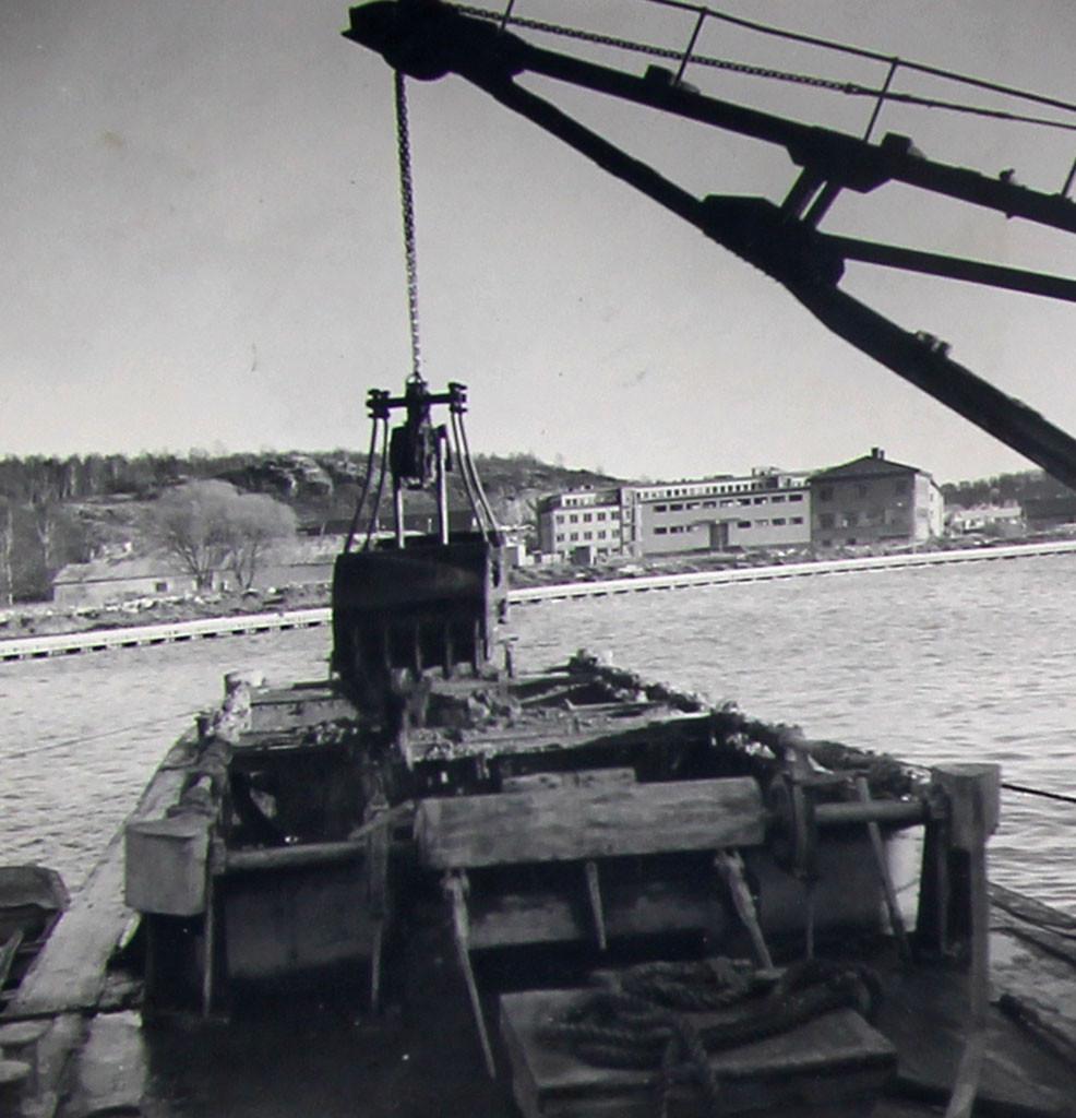 Bilde av Småbåthavna graves ut