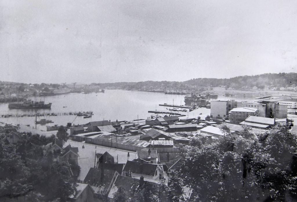 Bilde av Utsikt fra Korpås i 1950.