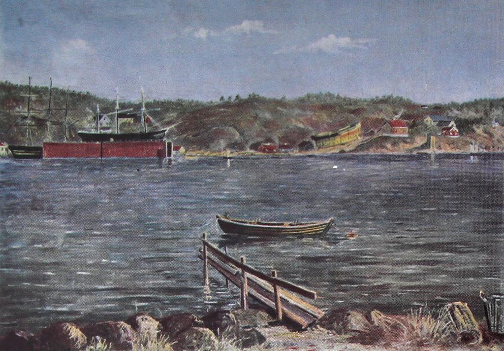 Bilde av Framnæs Mek. Værksted i 1890.