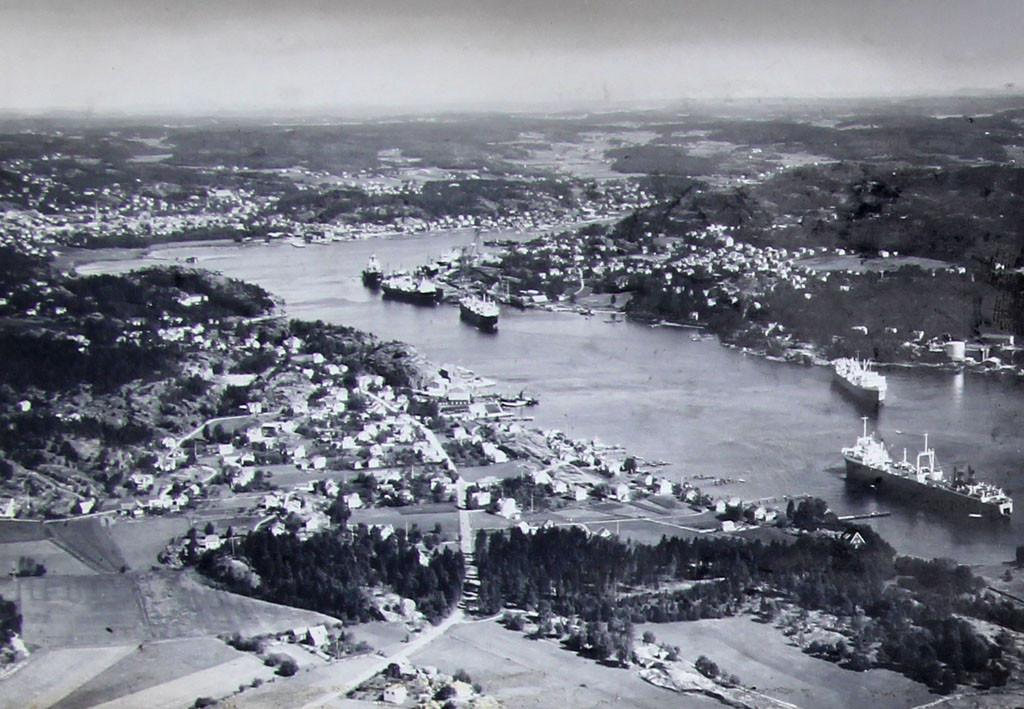 Bilde av Sandefjord med havnen