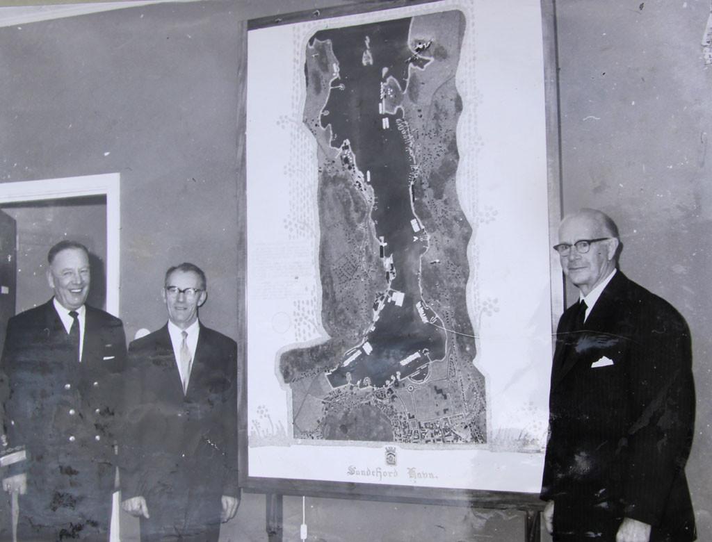 Bilde av Sandefjord havn  -  Modell i plast av Sandefjord havn - 1962