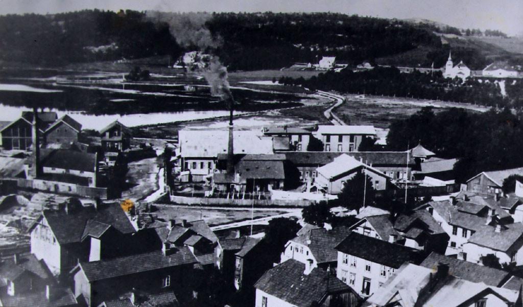 Bilde av Hjertnesstranda omkring 1903